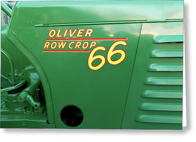 1951 Oliver Model 66 Row Crop Greeting Card