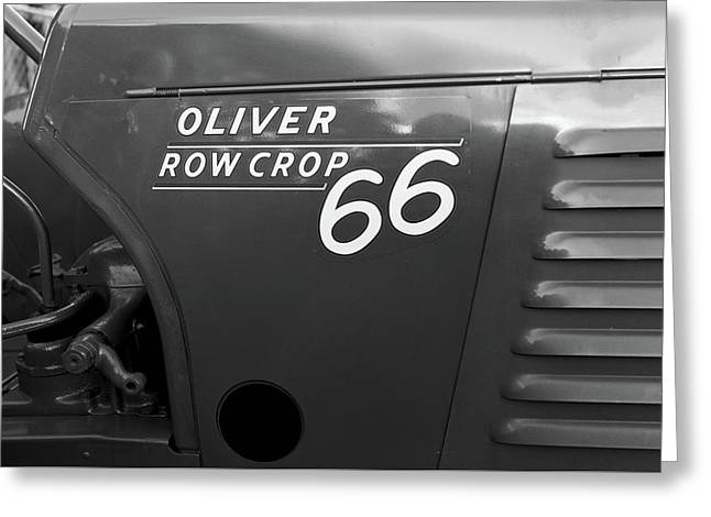 1951 Oliver Tractor Bw Greeting Card