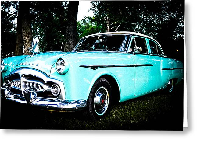 1951 Packard Greeting Card by Esther Kather