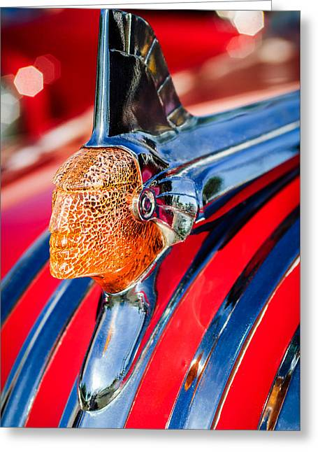 1951 Pontiac Chief Hood Ornament Greeting Card