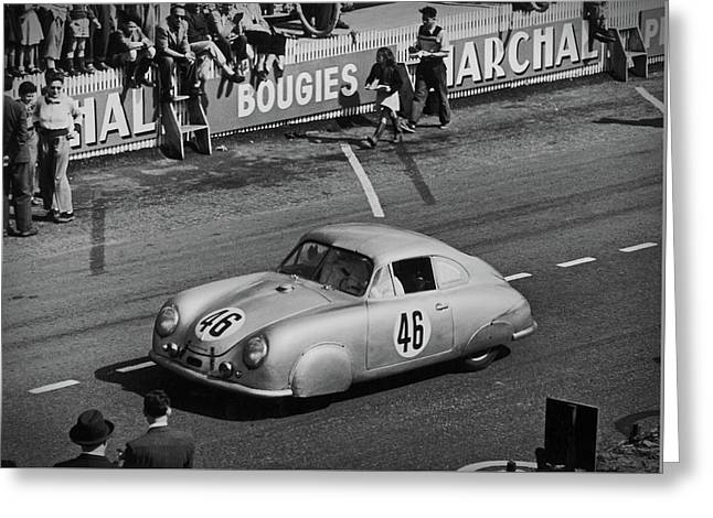 1951 Porsche At Le Mans - Doc Braham - All Rights Reserved Greeting Card