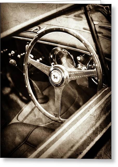 1952 Ferrari 212 Inter Vignale Coupe Steering Wheel Emblem -1598s Greeting Card