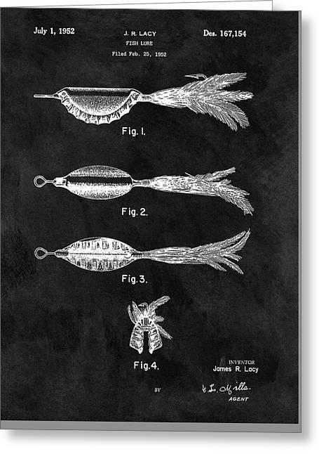 1952 Fishing Lure Patent Greeting Card