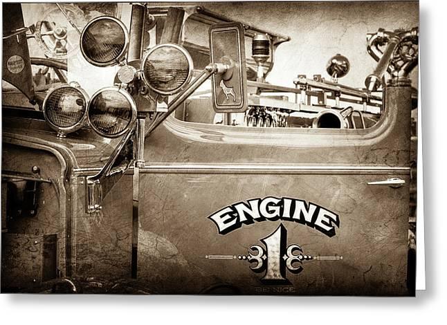 1952 L Model Mack Pumper Fire Truck -0193s Greeting Card by Jill Reger