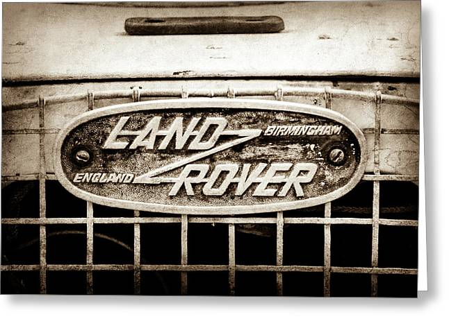 1952 Land Rover 80 Grille  Emblem -0988s2 Greeting Card by Jill Reger