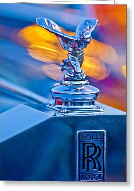 1952 Rolls-royce Silver Wraith Hood Ornament Greeting Card by Jill Reger