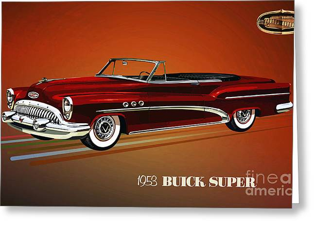 1953 Buick Super 56c Convertible Greeting Card by GabeZ Art