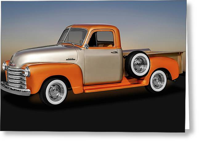 1953 Chevrolet 3100 Series Pickup Truck   -   1953chevy3100trk170680 Greeting Card