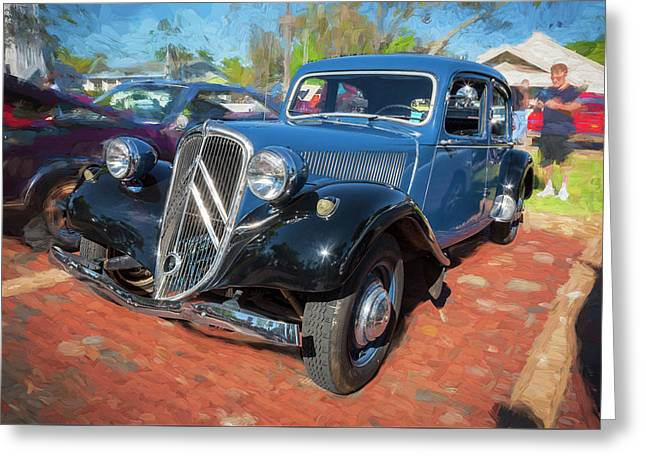 1953 Citroen Traction Avant Greeting Card by Rich Franco