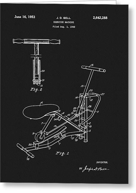 1953 Exercise Apparatus Patent Greeting Card