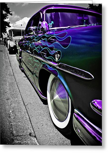 Greeting Card featuring the photograph 1953 Ford Customline by Joann Copeland-Paul