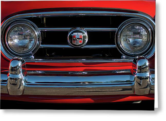 1953 Nash Healey Roadster Grille Greeting Card