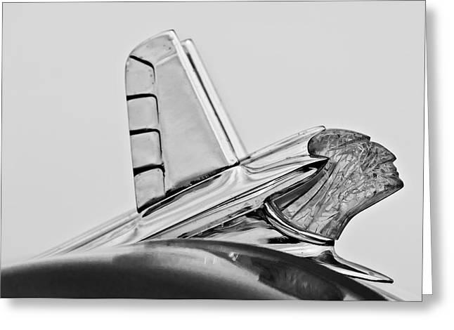 1953 Pontiac Hood Ornament 2 Greeting Card