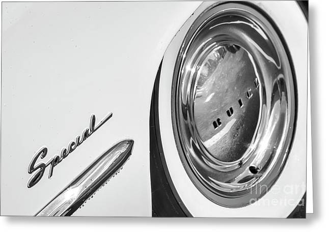 Greeting Card featuring the photograph 1953 Special Monotone by Dennis Hedberg