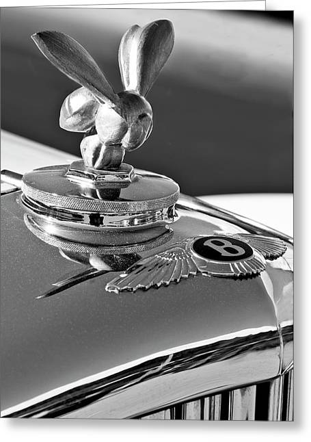1954 Bentley One Of A Kind Hood Ornament 2 Greeting Card