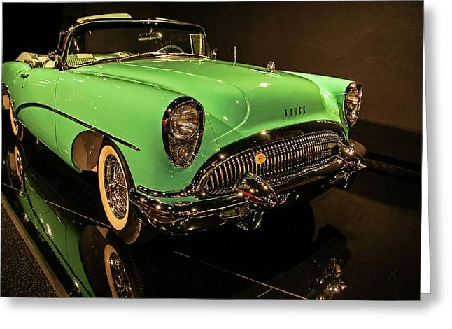 1954 Buick Skylark Convertible Greeting Card by John Bartelt