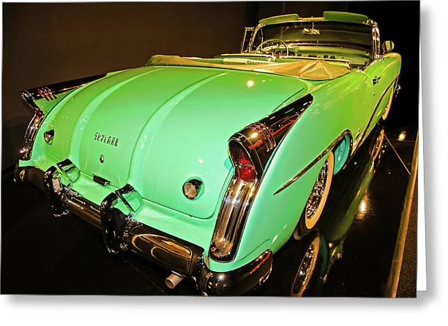 1954 Buick Skylark Fins Greeting Card by John Bartelt