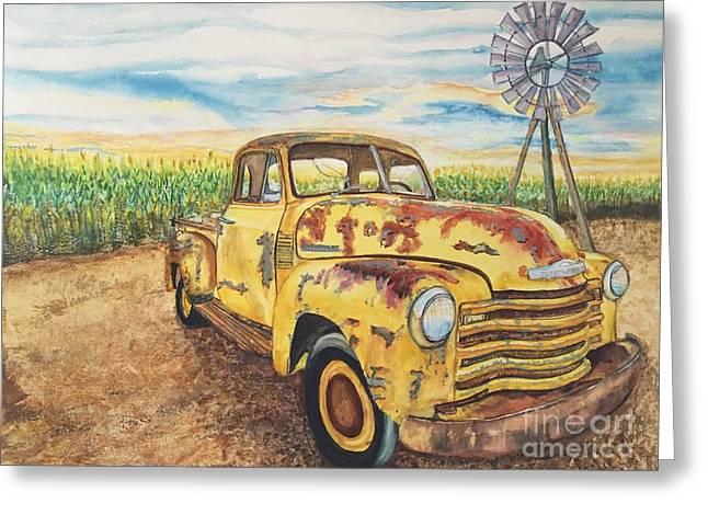 1954 Chevrolet Pickup Truck.   Greeting Card by DJ Laughlin
