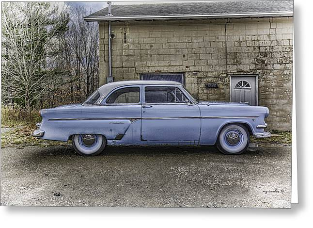 1954 Ford Crestline _ Hdr Greeting Card by Michael Rankin