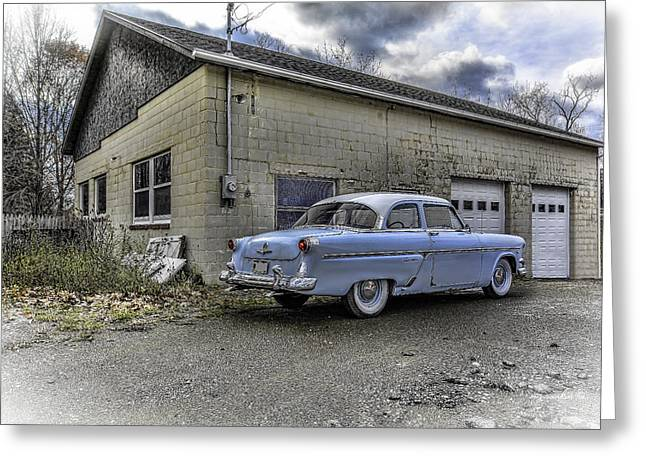 1954 Ford Crestline Hdr Rev A Greeting Card by Michael Rankin