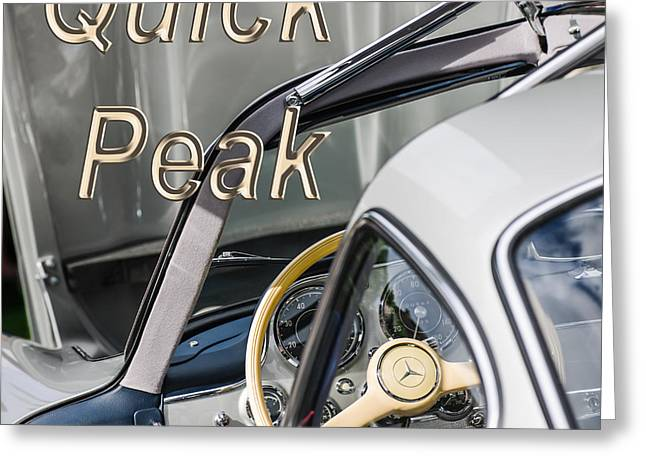 1954 Mercedes-benz 300sl Gullwing Steering Wheel -1653th Greeting Card