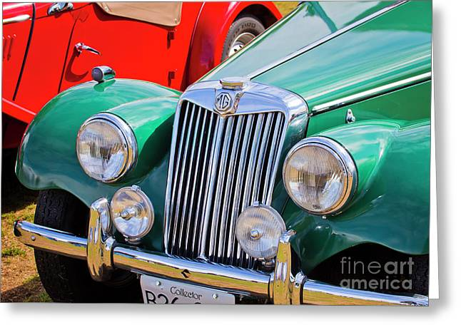 Greeting Card featuring the photograph 1954 Mg Tf Sports Car by Chris Dutton