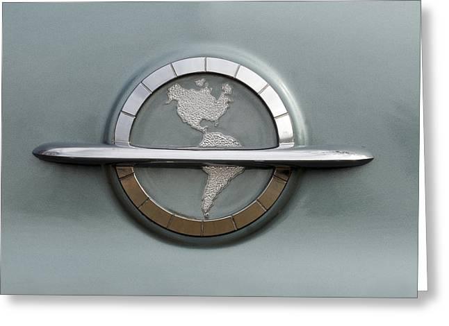 1954 Oldsmobile Super 88 Emblem Greeting Card by Jill Reger