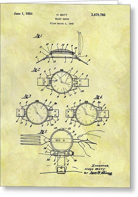 1954 Watch Patent Greeting Card by Dan Sproul