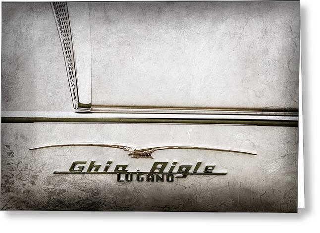 1955 Alfa Romeo 1900 Css Ghia Aigle Cabriolet Grille Emblem - Super Sprint Emblem -2266ac Greeting Card by Jill Reger