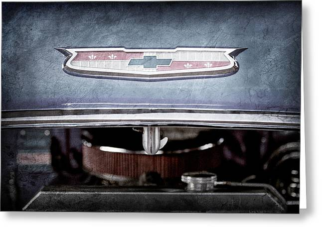 1955 Chevrolet Belair Emblem -1033ac Greeting Card by Jill Reger