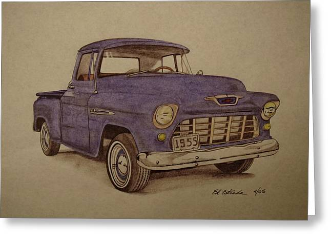 1955 Chevrolet Pickup Truck Greeting Card