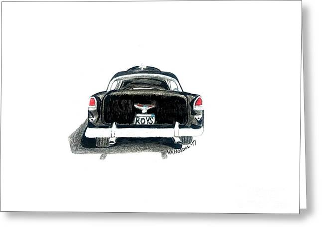 1955 Chevy Bel Air Rear View Greeting Card
