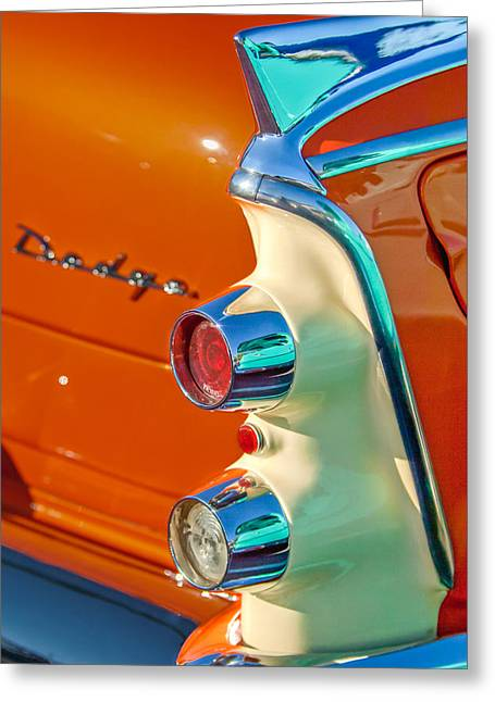 1955 Dodge Coronet Tail Light Emblem -0086c Greeting Card