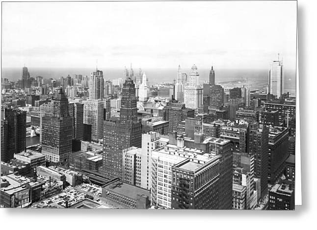 1955 Downtown Chicago Greeting Card by Underwood Archives