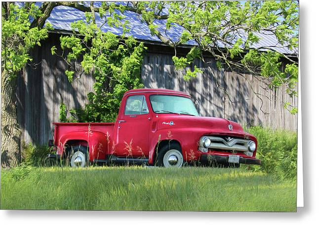 1955 Ford F100 Truck Greeting Card by Lori Deiter
