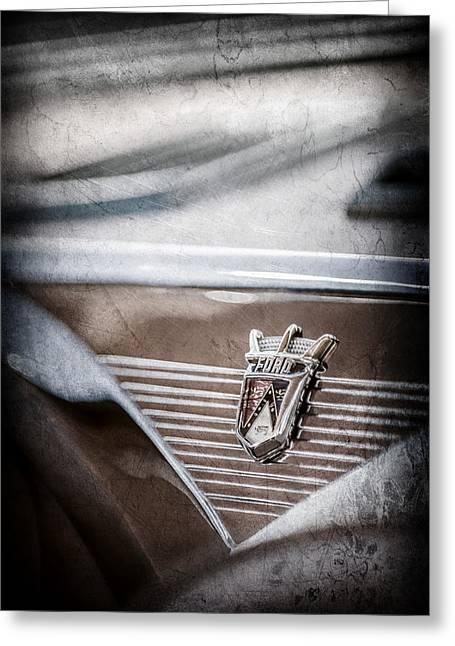 1955 Ford Fairlane Crown Victoria Emblem -1608ac Greeting Card by Jill Reger