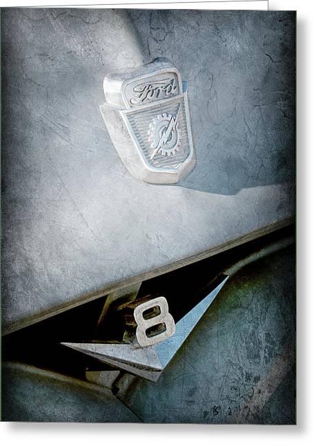 1955 Ford Pickup Truck Emblems -1020ac Greeting Card