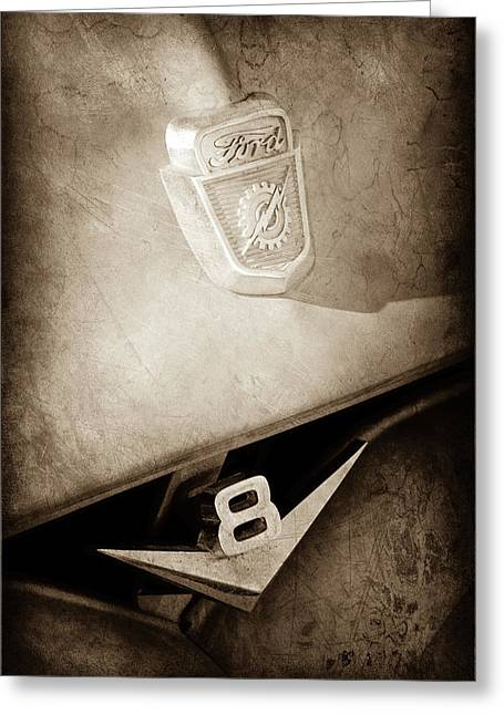 1955 Ford Pickup Truck Emblems -1020s Greeting Card