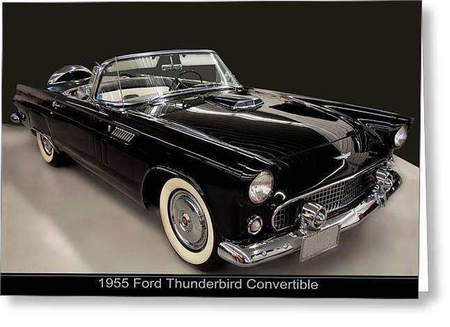 1955 Ford Thunderbird Convertible Greeting Card