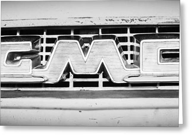 1955 Gmc Pickup Truck Grille Emblem -0314bw2 Greeting Card