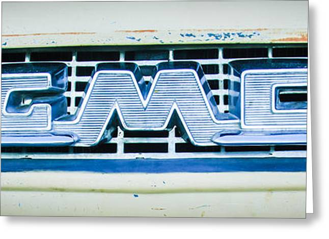 1955 Gmc Pickup Truck Grille Emblem -0314c2 Greeting Card