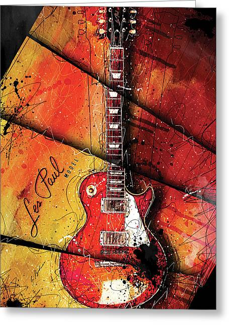 1955 Les Paul 05 Sunset Greeting Card
