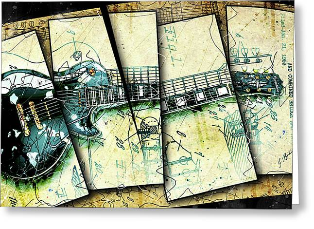 1955 Les Paul Custom Black Beauty V2 Greeting Card by Gary Bodnar