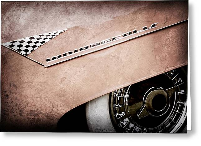 1955 Lincoln Indianapolis Boano Coupe Emblem -0295ac Greeting Card
