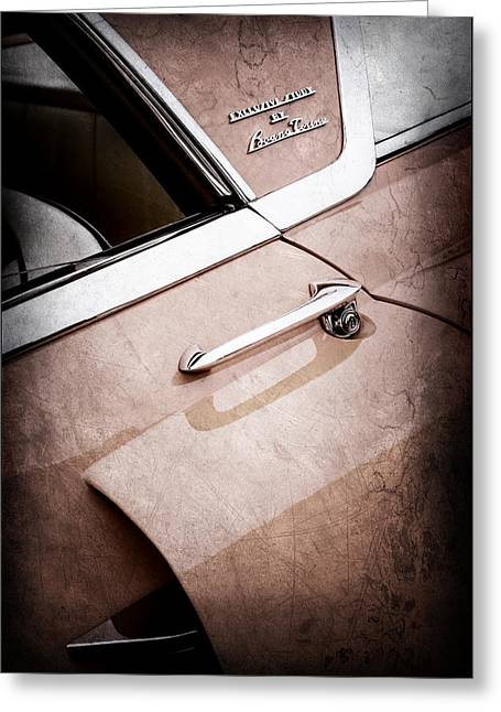 1955 Lincoln Indianapolis Boano Coupe Side Emblem -0355ac Greeting Card by Jill Reger