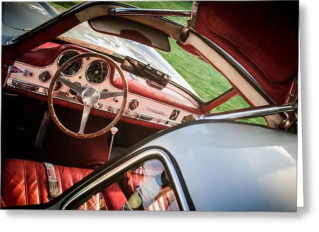 1955 Mercedes-benz 300sl Gullwing Steering Wheel - Race Car -0329c Greeting Card