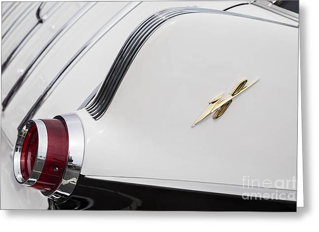 1955 Pontiac Safari Taillight Greeting Card by Dennis Hedberg