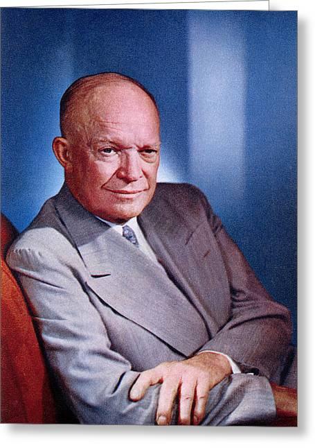 1955 President Dwight D Eisenhower Greeting Card