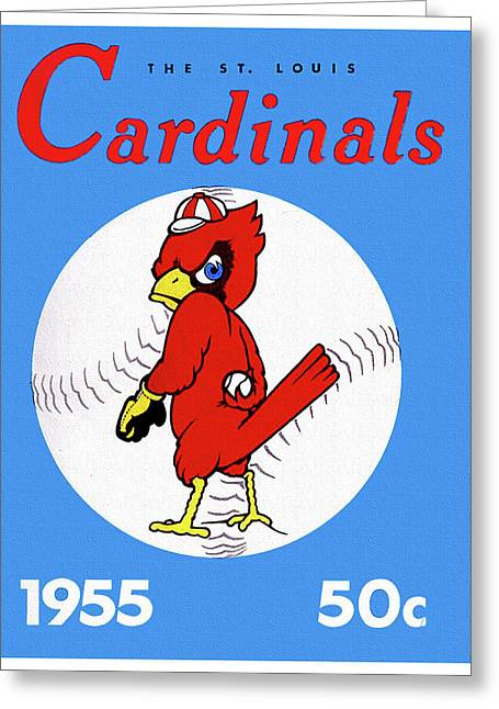 1955 St. Louis Cardinals Yearbook Greeting Card