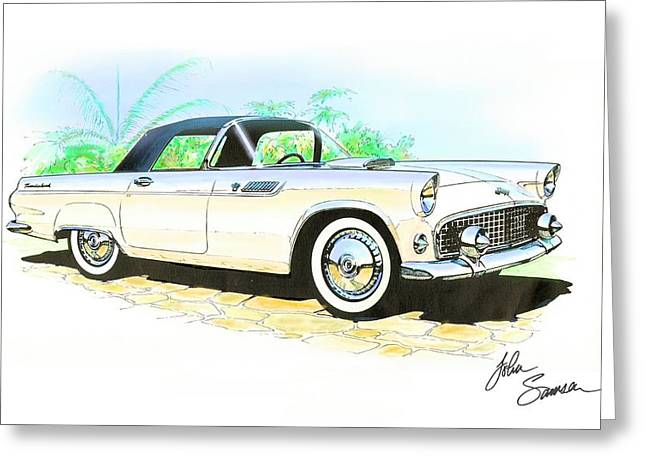 1955 Thunderbird Painting Greeting Card